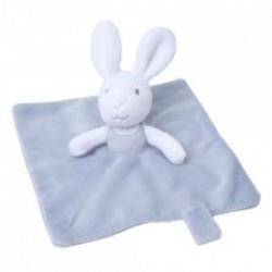 Doudou rabbit flat Grain of wheat grey white attached nipple generation Z