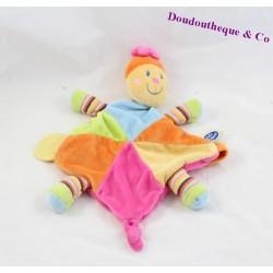 Doudou plat Tortue MOTS D'ENFANTS multicolore losange 32 cm