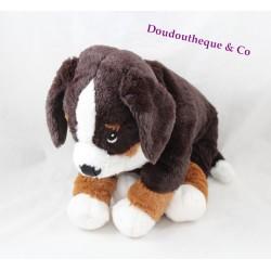 Peluche chien IKEA marron blanc Hoppig chien de chasse 39 cm