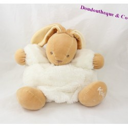Doudou patapouf lapin KALOO Fourrure Fur blanc 28 cm