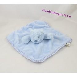 Bear flat Doudou JELLYCAT blue square tiles 26 cm