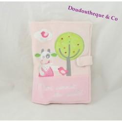 Protège carnet de santé MOTS D'ENFANTS vache rose arbre