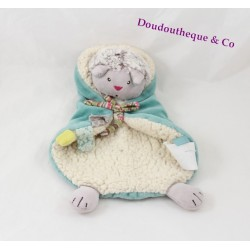 Doudou flat Minoucha cat MOULIN ROTY The white blue pachats