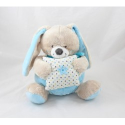 Musical plush bunny MOTS D'ENFANTS blue star pillow