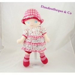 COROLLA chiffon doll floral dress gingham hat 2007 32 cm