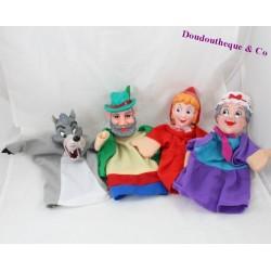 Lot de 4 marionnettes SHOWTIME Le petit chaperon rouge 26 cm