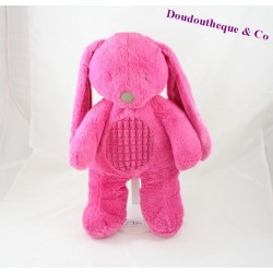 Peluche lapin TEX BABY Carrefour rose 35 cm