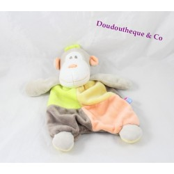 Doudou dish monkey ORANGE SUCRE multicolour marmoset brown green yellow orange 24 cm