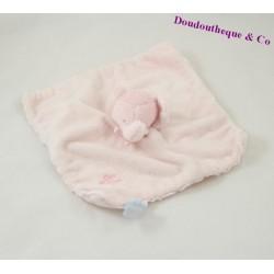 Elephant flat comforter TARTINE ET CHOCOLAT pink 23 cm