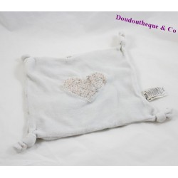 Flat comforter heart TEX flowers gray knots 20 cm