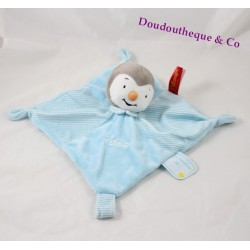 Flat Doudou you T'choupi  blue NICOTOY attached nipple scratched