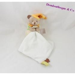 Doudou mouchoir ours DOUDOU ET COMPAGNIE Melis bonnet orange DC2644 15 cm