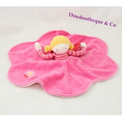 Doudou flat girl fairy MOULIN ROTY Popinelle round pink