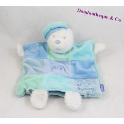 KALOO bear flat comforter blue and white