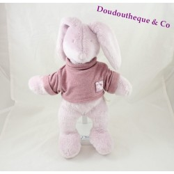 Plush rabbit MOULIN ROTY Basil and Lola purple parme 35 cm