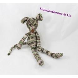 Doudou mouse JELLYCAT stripes multicolored 26 cm