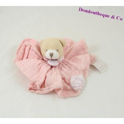 Bear comforter DOUDOU AND COMPANY The angel Lange pink PM DC2358