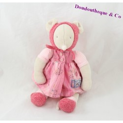Plush Mouse Lila MOULIN ROTY Lila and Patachon dress pink 30 cm