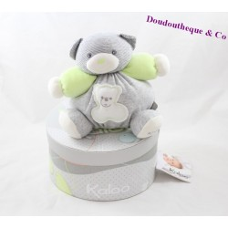 KALOO Zen bear comforter ball gray green anise 17 cm