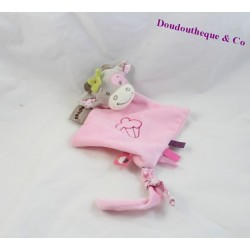 Cow flat comforter NATTOU Manon and Alizée lozenge pink cupcake 24 cm