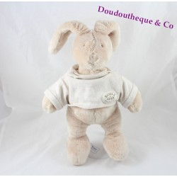 Rabbit plush toy MOULIN ROTY Basil and Lola beige 32 cm