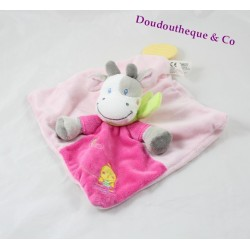 NICOTOY cow flat comforter pink chick teething ring