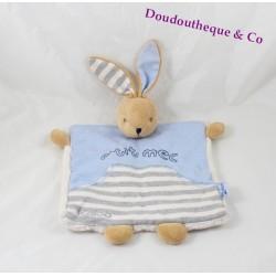 Doudou flat rabbit KALOO p'tit guy Blue Denim