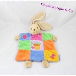 KALOO rabbit flat comforter patchwork carrots multicolor bee