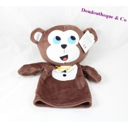 Comforter puppet monkey ZEEMAN brown yellow knot 26 cm