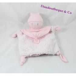 Doudou marionnette poupée COROLLE rose poupée chiffon 26 cm