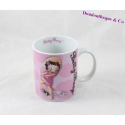 Mug Betty Boop STARLINE blanc rose tasse céramique 10 cm