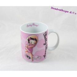 Mug Betty Boop STARLINE blanc rose tasse céramique 10 cm