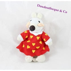 Peluche Mimi la Souris CROCODILE CREEK robe rouge Maisy Lucy Cousins 1996