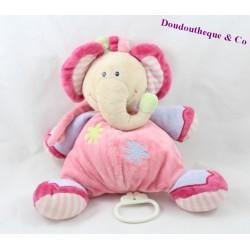 NATTOU elephant musical duvet pink