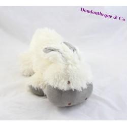 Peluche cheval NATURE ET DECOUVERTES âne blanc gris 23 cm