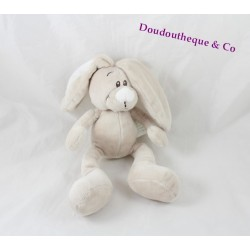 Doudou rabbit KIMBALOO beige gray White Hall 26 cm