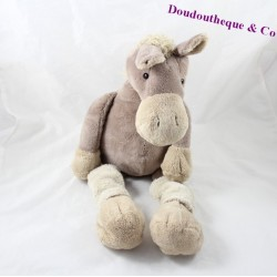 Plush horse HISTOIRE D'OURS Donkey brown