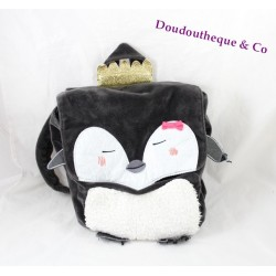 Backpack black white DPAM of same Penguin plush