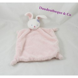 KIMBALOO rabbit flat comforter pink bow blue head La Halle 33 cm