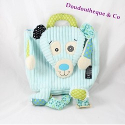 Bear illicos LES DEGLINGOS bear polar blue 25 cm backpack