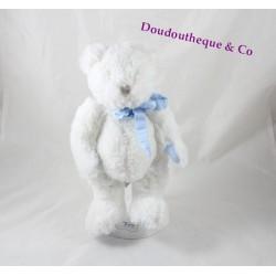 Peluche ours DOUDOU ET COMPAGNIE Mon tout petit ... blanc bleu 25 cm DC2341