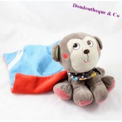 Doudou mouchoir singe NICOTOY pois bandana 18 cm