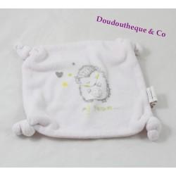 Hedgehog square flat comforter MY TREASURE white 4 knots