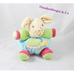 Plush p'tite mouse KALOO turtle 1.2.3 pop green turquoise 17 cm