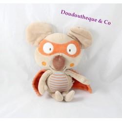 Doudou Noah koala DPAM beige orange koala masqué 22 cm