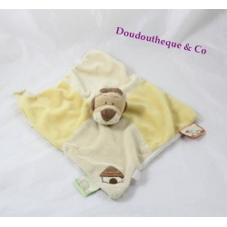 Doudou flat lion NOUKIE'S Hippoum Baboum and Zamba yellow beige