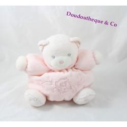 Doudou boule ours KALOO Perle rose clair p'tit ourson 18 cm