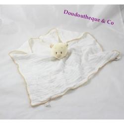 Doudou plat Nouky ours NOUKIE'S lange mouchoir beige 36 cm