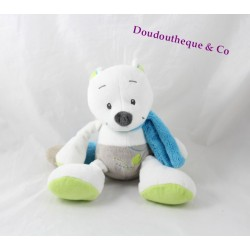 Plush fox TEX white green blue scarf 22 cm