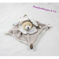Doudou flat bear DOUDOU AND COMPAGNY Beige soft softie seeds 18 cm